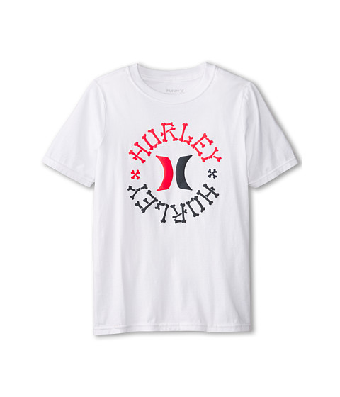 Hurley Kids - Charge Short Sleeve Tee (Big Kids) (White) Boy's T Shirt