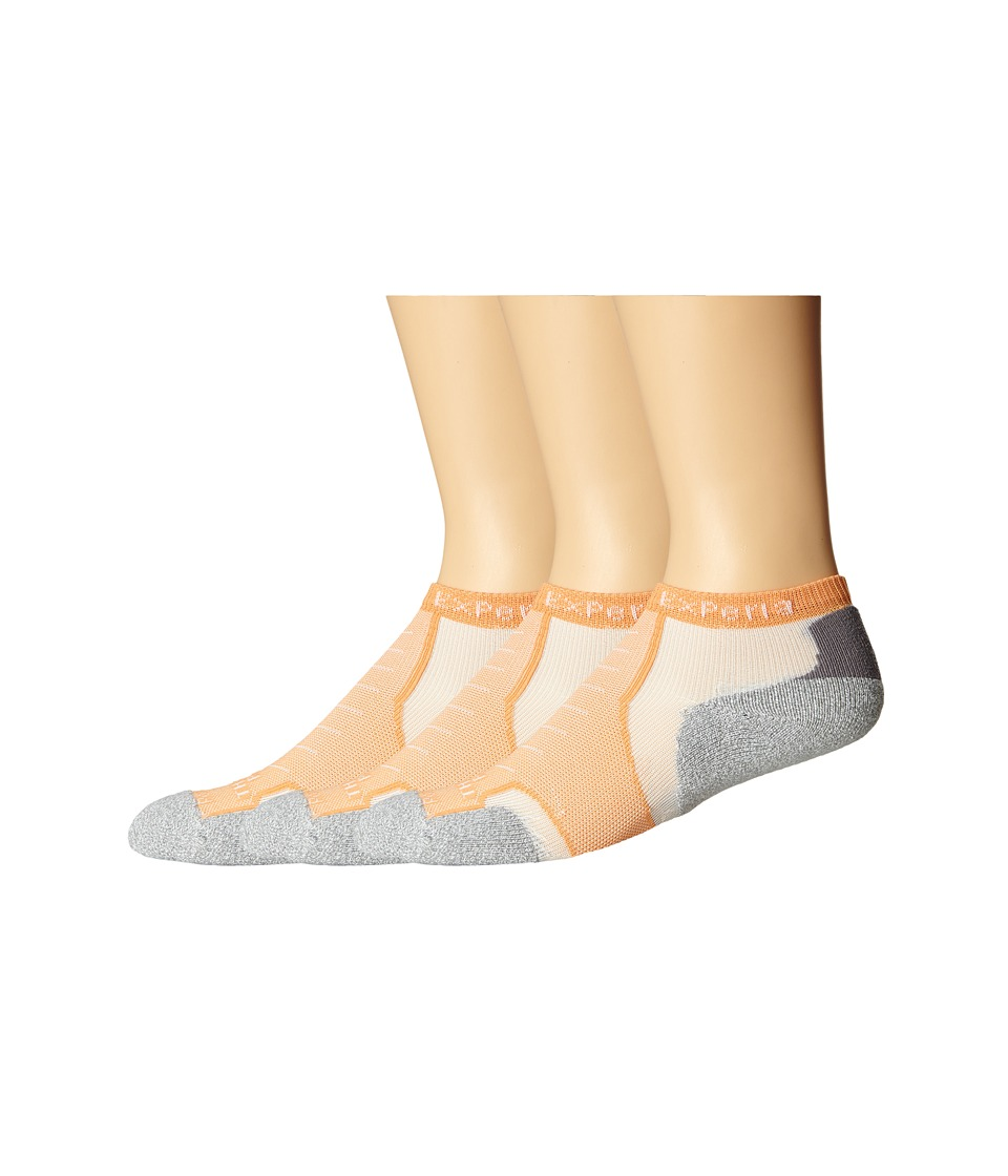 Thorlos - Experia Rio Micro Mini - 3pk (Tangerine) No Show Socks Shoes