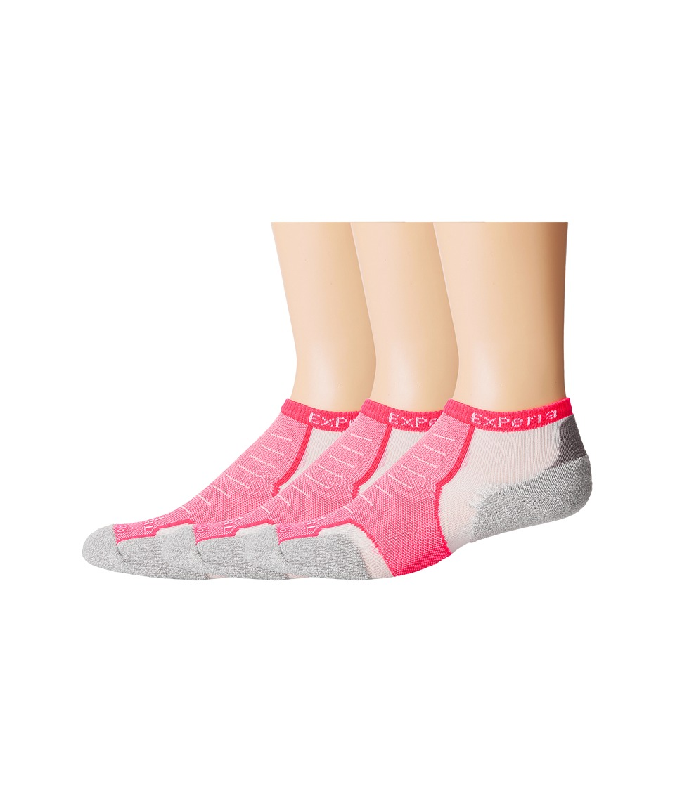 Thorlos - Experia Rio Micro Mini - 3pk (Diva Pink) No Show Socks Shoes