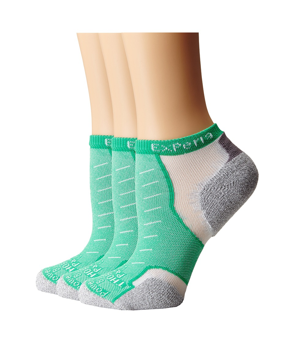 Thorlos - Experia Rio Micro Mini - 3pk (Deep Mint) No Show Socks Shoes