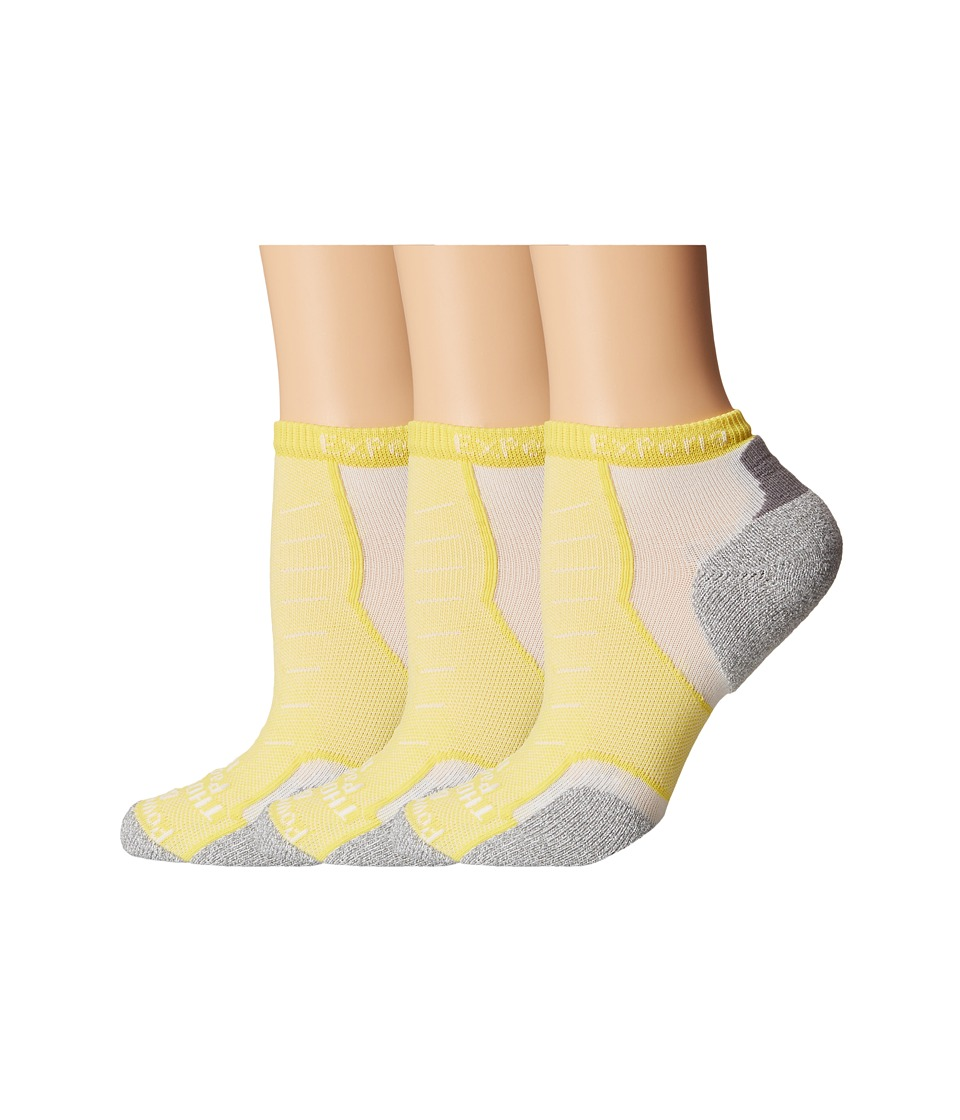 Thorlos - Experia Rio Micro Mini - 3pk (Buttercup) No Show Socks Shoes