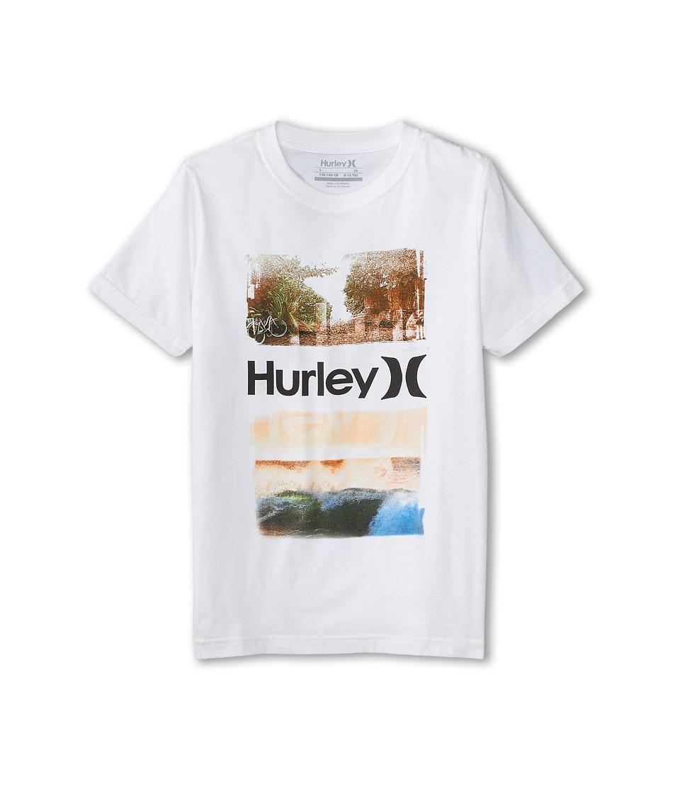 Hurley Kids - Scenic Tee (Big Kids) (White) Boy's T Shirt