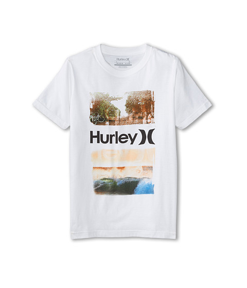 Hurley Kids - Scenic Tee (Big Kids) (White) Boy's T Shirt