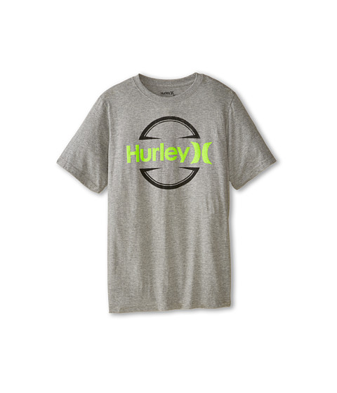 Hurley Kids - Logo Tee (Big Kids) (Dark Grey Heather) Boy's T Shirt