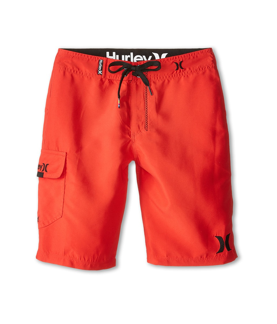 Hurley Kids - One and Only Boardshorts (Big Kids) (Daring Red) Boy's Swimwear