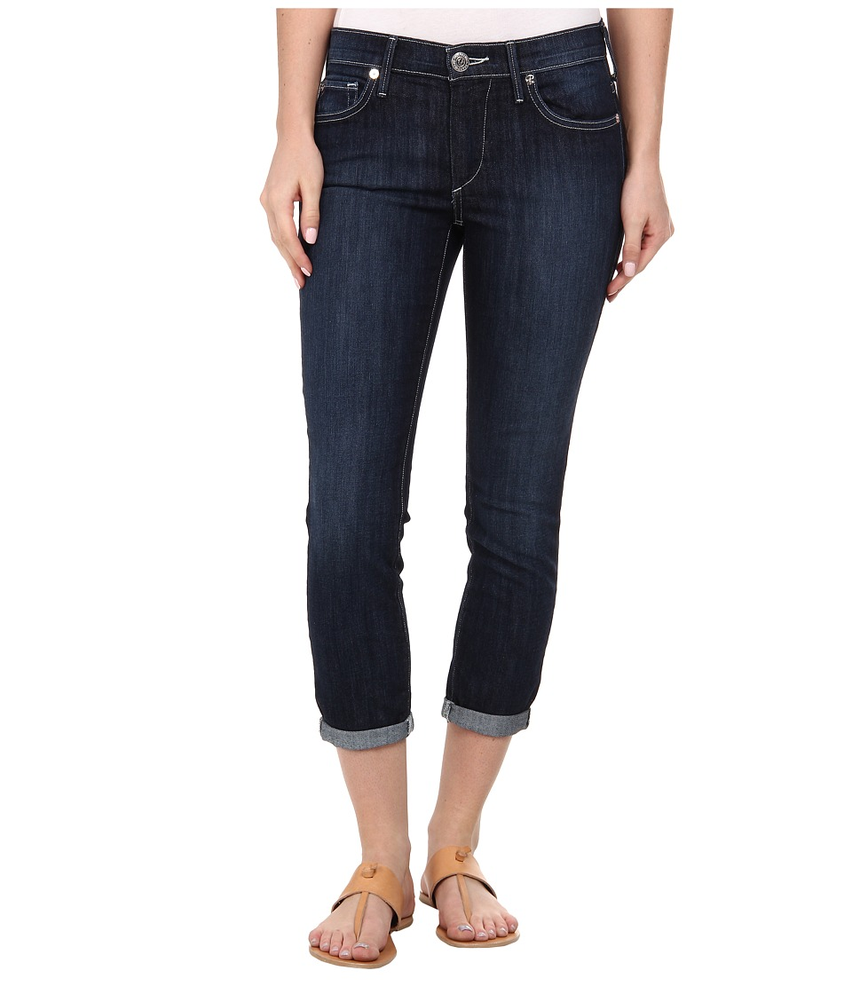 True Religion - Halle Mid Rise Super Skinny Crop Rolled in Lonestar (Lonestar) Women's Jeans