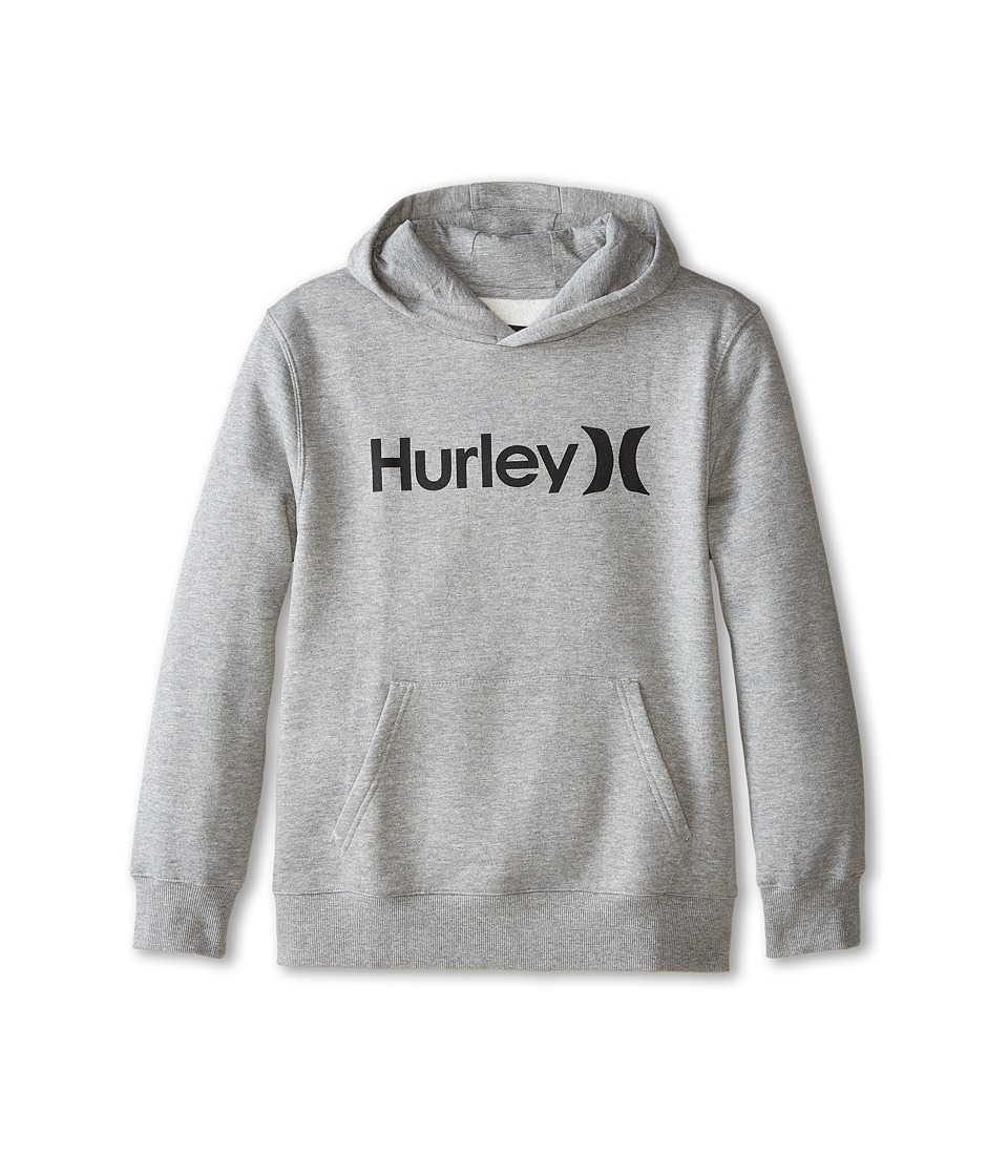 Hurley Kids - One Only Fleece Pullover (Big Kids) (Dark Grey Heather) Boy's Fleece