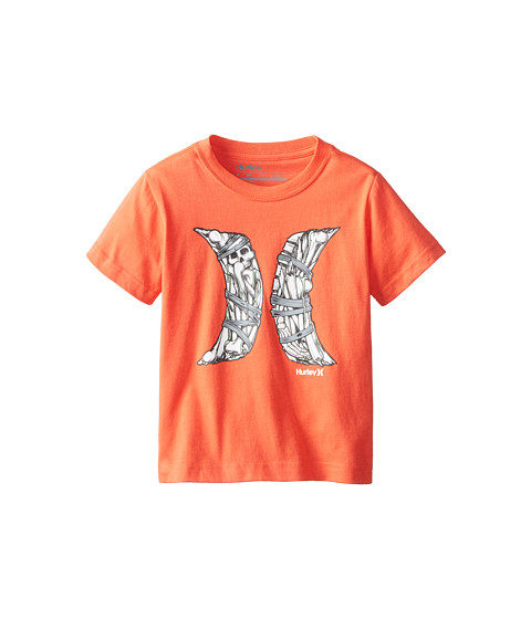 Hurley Kids - Short Sleeve Bones Tee (Little Kids) (Bright Crimson) Boy's T Shirt