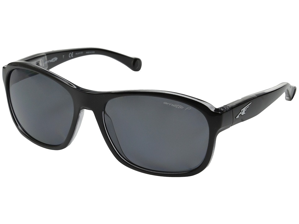 Arnette - Uncorked (Black Clear/Matte Black Tape/Grey Polar) Fashion Sunglasses