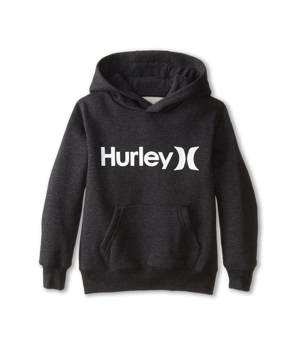 Hurley Kids - One Only Fleece Pullover (Little Kids) (Black Heather) Boy's Fleece