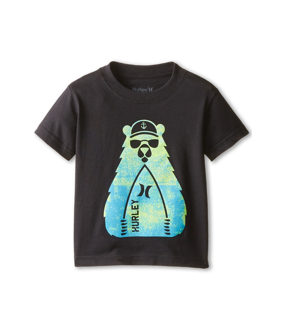Hurley Kids - CA Bear Short Sleeve Tee (Toddler) (Black) Boy