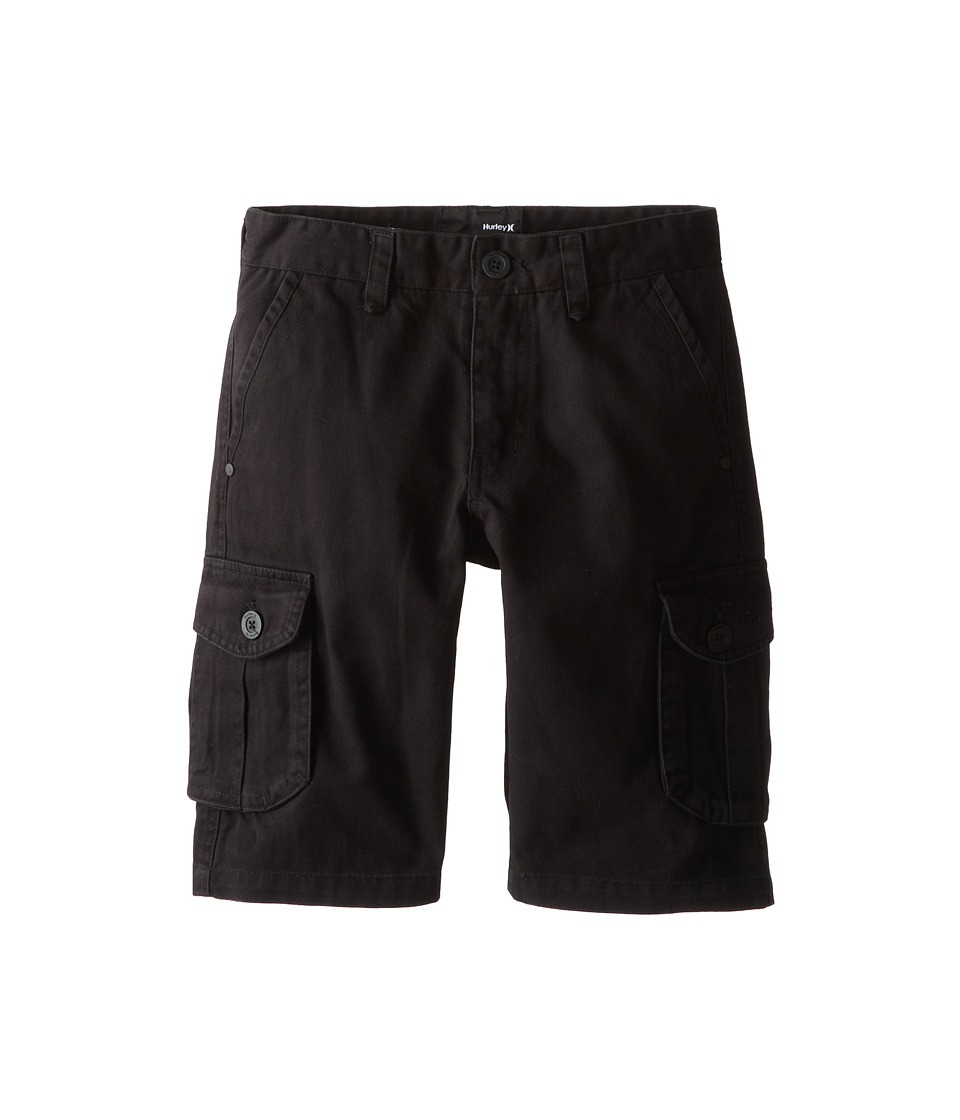Hurley Kids - One Only Cargo Shorts (Big Kids) (Black) Boy's Shorts