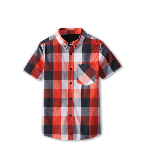 Hurley Kids - Surfers Only Short Sleeve Woven (Big Kids) (Bright Crimson) Boy