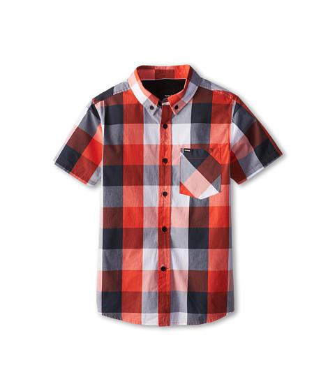 Hurley Kids - Surfers Only Short Sleeve Woven (Big Kids) (Bright Crimson) Boy