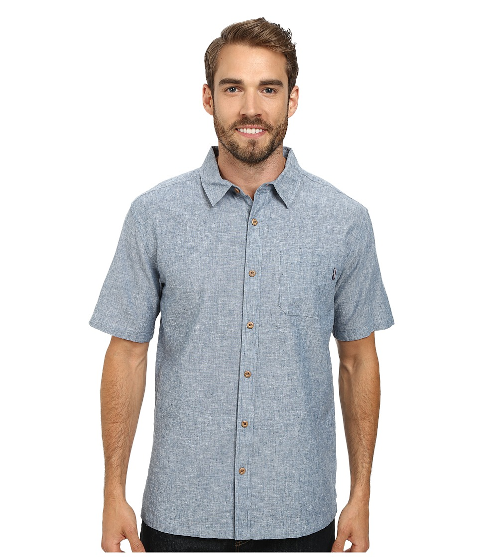 Jack O'Neill - Inlet Wovens (Earth Navy) Men's Short Sleeve Knit