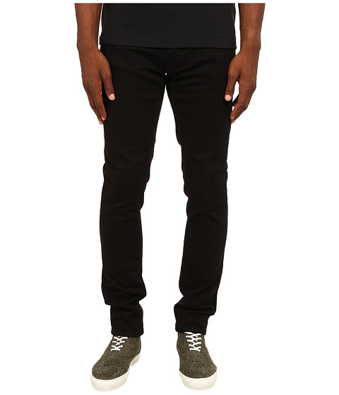 Just Cavalli - Reptile Texture Cotton/Stretch Denim (Black) Men