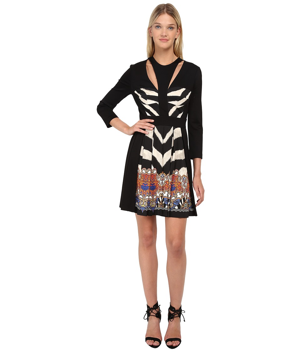 Just Cavalli - Fit and Flare Long Sleeve Dress (Pearl Variant) Women's Dress