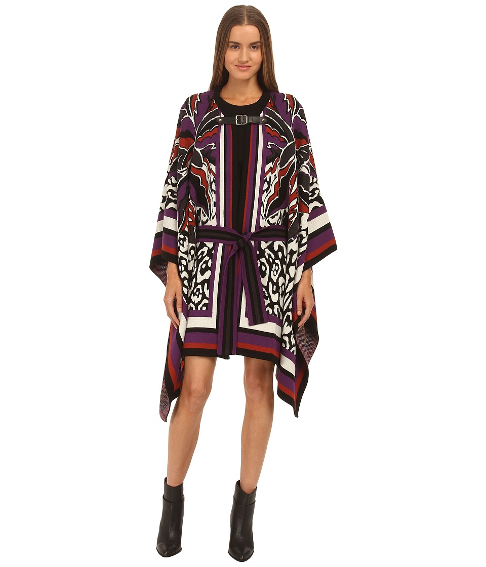 Just Cavalli - Floral Printed Cape (Multi) Women's Coat