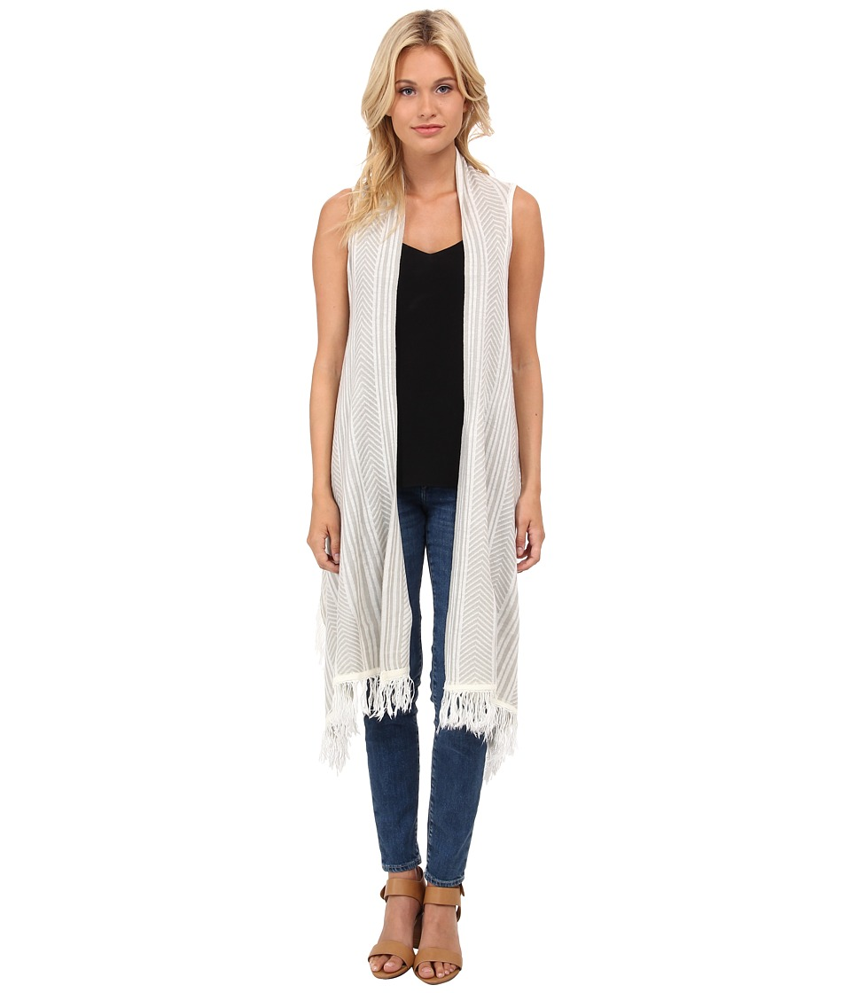 BCBGeneration - Summer Love Fringed Vest (Grey Moss) Women