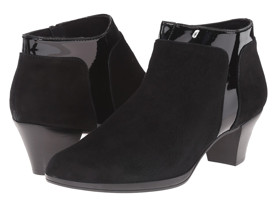 Munro - Hope (Black Suede/Patent) High Heels