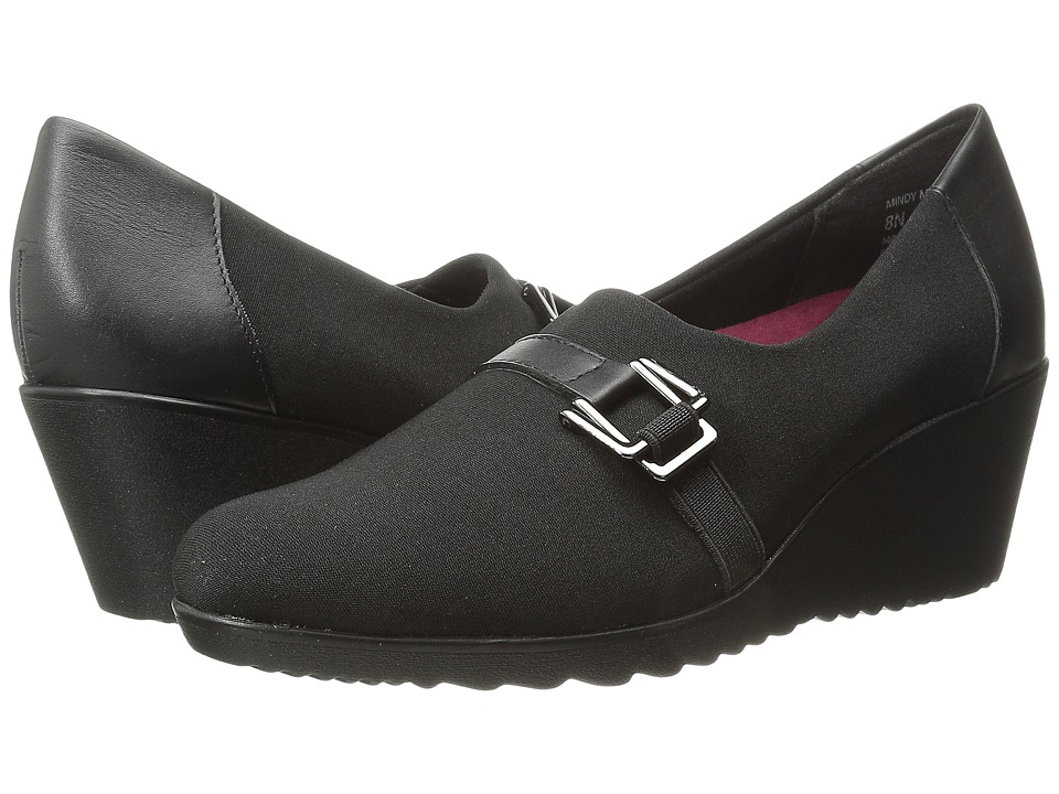 Munro - Mindy (Black Stretch) Women's Wedge Shoes