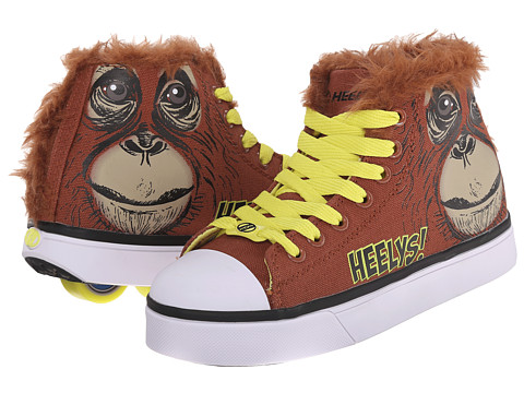 Heelys - Zoo Crew x2 (Little Kid/Big Kid/Adult) (Orangutan) Kids Shoes