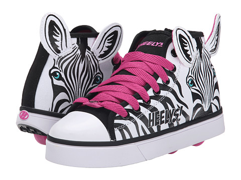 Heelys - Zoo Crew x2 (Little Kid/Big Kid/Adult) (Zebra) Girls Shoes