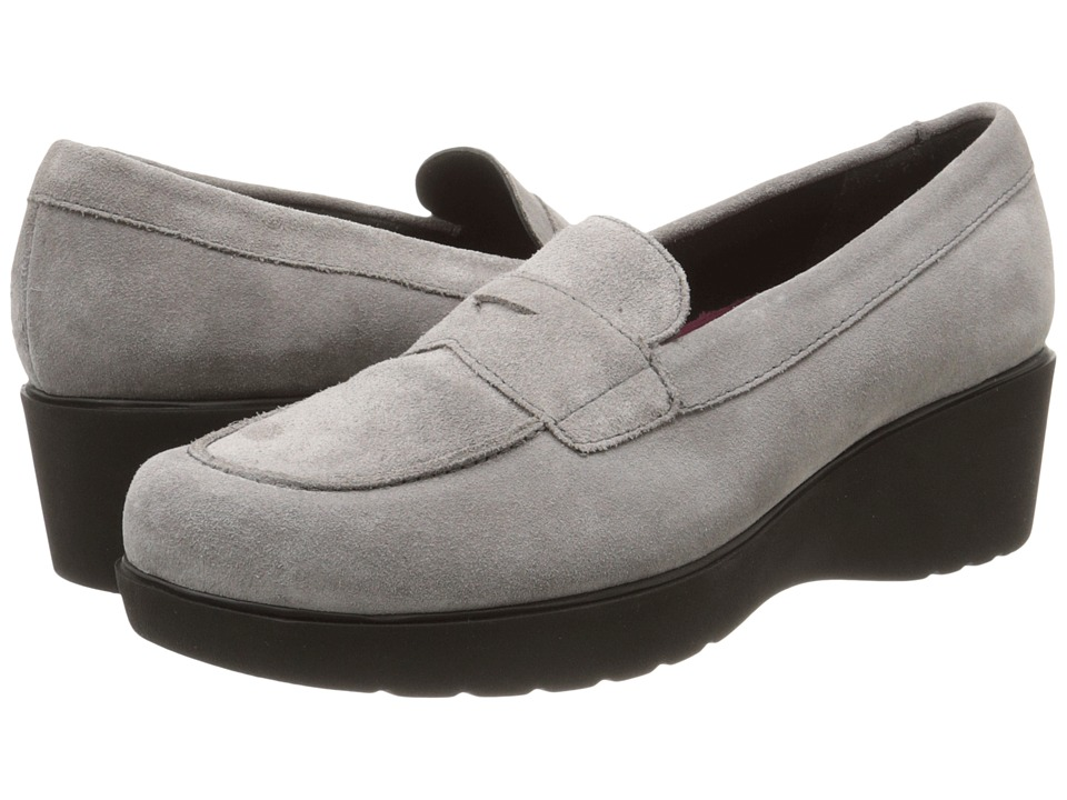 Munro - Katie (Grey Calf Suede) Women's Slip on Shoes