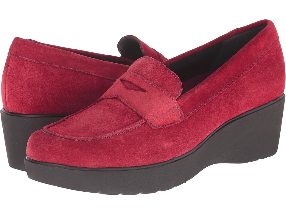 Munro - Katie (Red Calf Suede) Women's Slip on Shoes