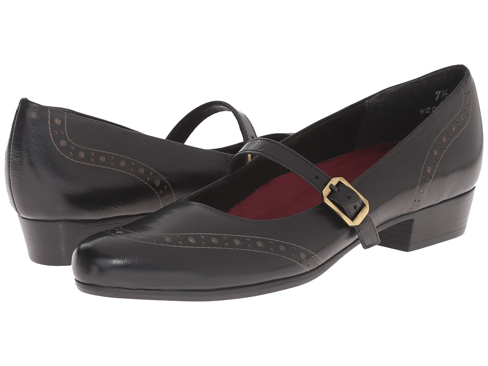 Munro - Whitney (Black Leather) Women's Slip on Shoes