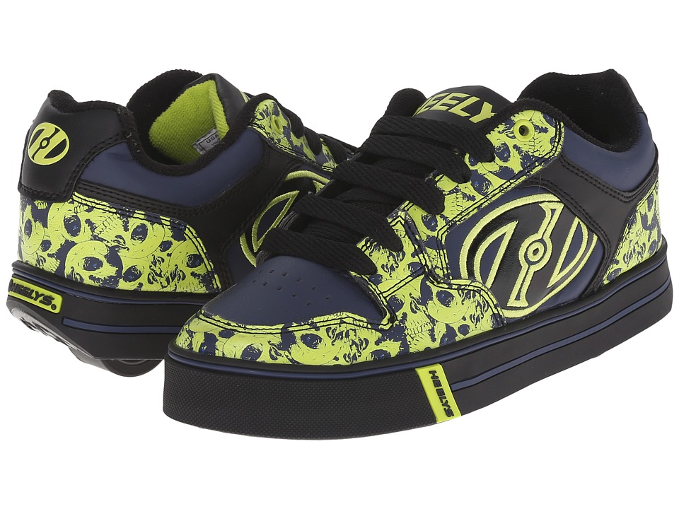 Heelys - Motion Plus (Little Kid/Big Kid/Adult) (Black/Navy/Lime Skills) Boy's Shoes