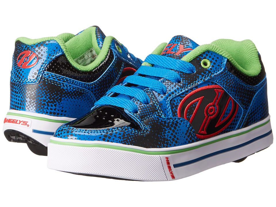 Heelys - Motion Plus (Little Kid/Big Kid/Adult) (Blue/Black/Graphic Print) Boy's Shoes