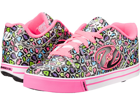 Heelys - Motion Plus (Little Kid/Big Kid/Adult) (Hot Pink/Leopard/Multi) Girl's Shoes
