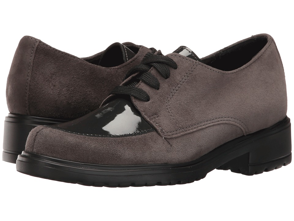 Munro - Veranda (Grey Suede/Patent) Women's Lace up casual Shoes