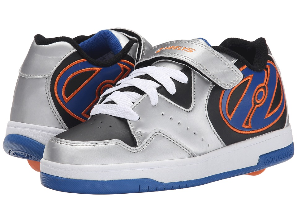 Heelys Hyper (Little Kid/Big Kid/Adult) (Silver/Black/Royal/Orange) Boys Shoes