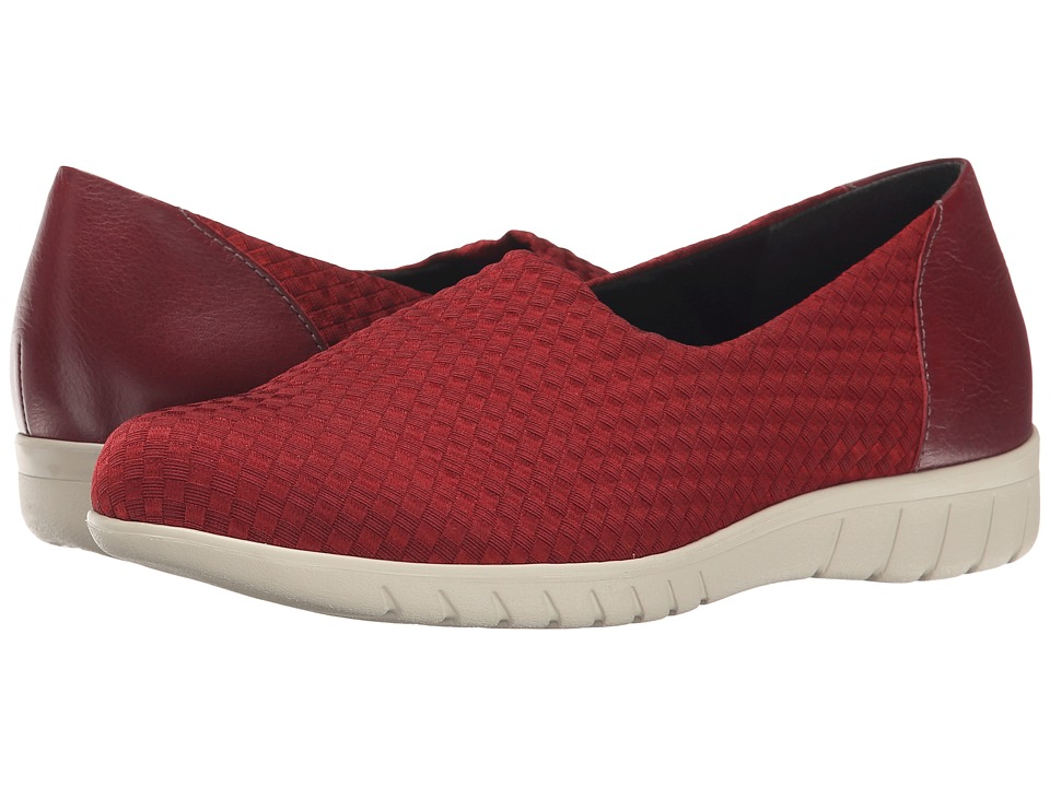 Munro - Cruise (Red Woven Fabric) Women's Slip on Shoes