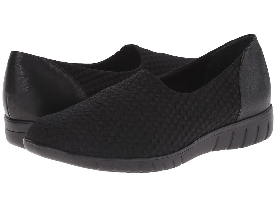 Munro - Cruise (Black Woven Fabric) Women's Slip on Shoes