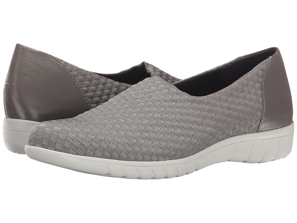 Munro - Cruise (Greige Woven Fabric) Women's Slip on Shoes