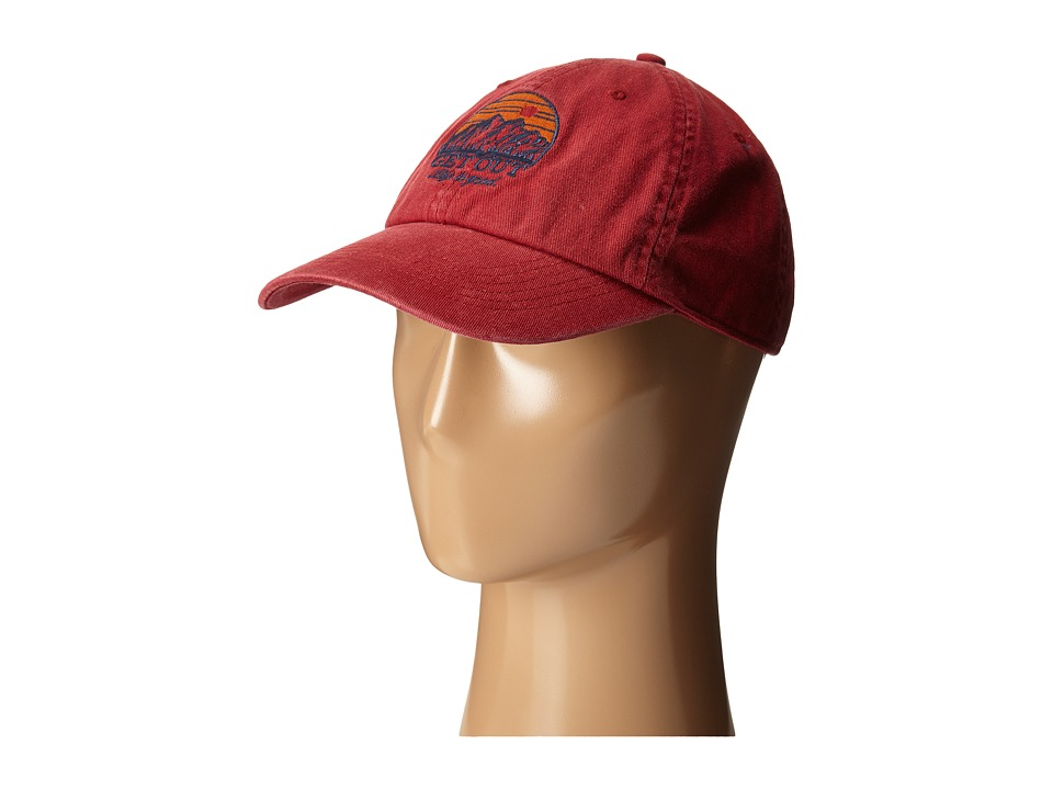 Life is good - Rough Wash Cap (Rich Red) Baseball Caps