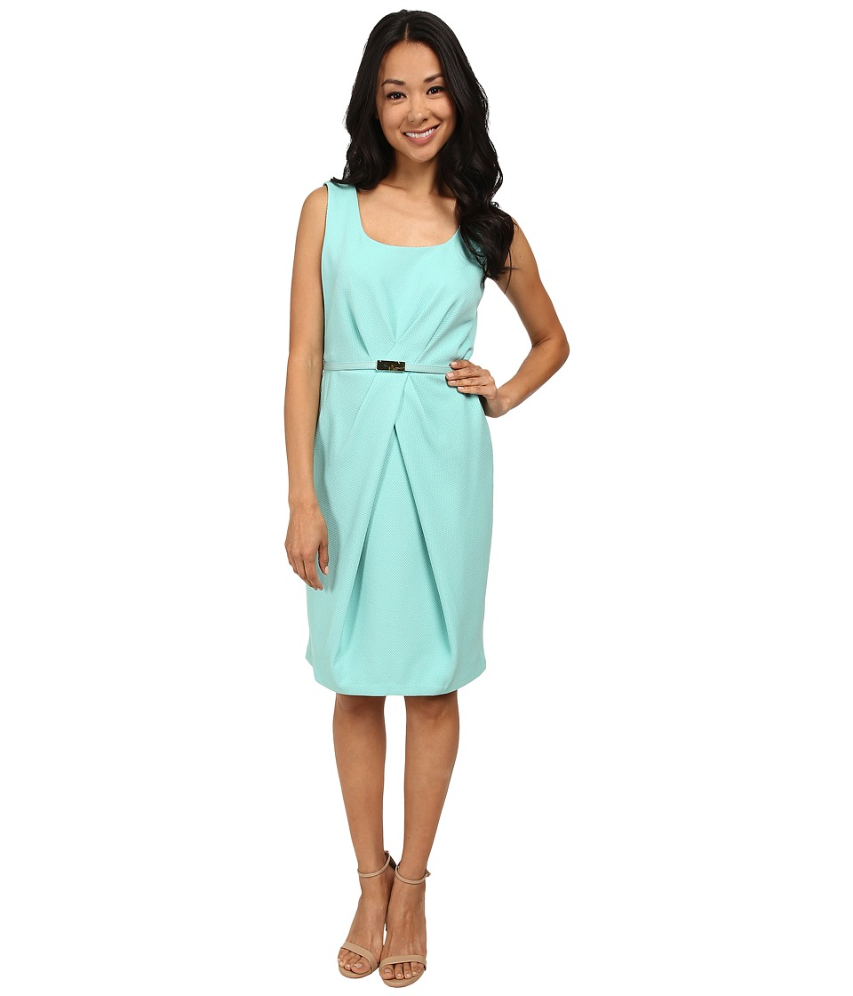 Jones New York Pleat Waist Sleeveless Dress
