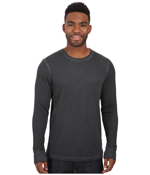 Life is good - Thermal Long Sleeve (Night Black) Men's Long Sleeve Pullover
