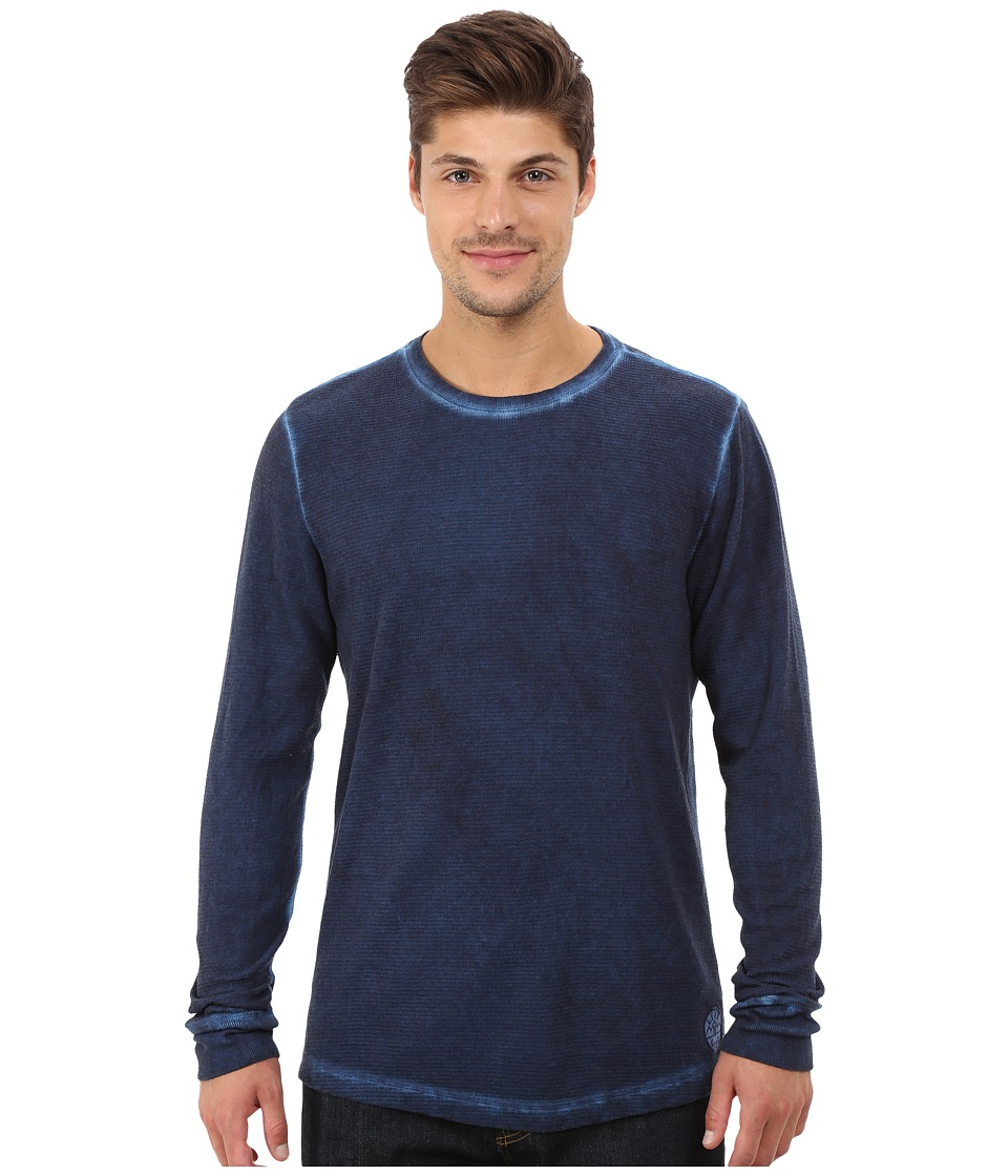Life is good - Thermal Long Sleeve (Darkest Blue) Men's Long Sleeve Pullover