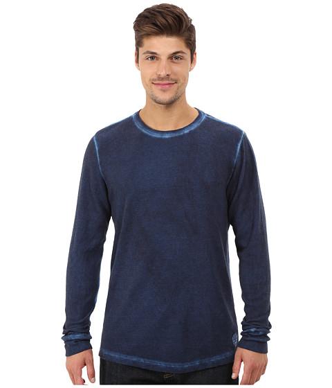 Life is good - Thermal Long Sleeve (Darkest Blue) Men's Long Sleeve Pullover