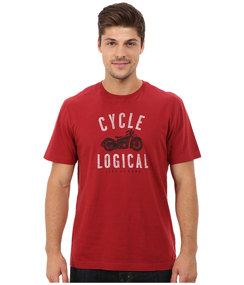 Life is good - Crusher Tee (Rich Red/Cycle Logic) Men's T Shirt