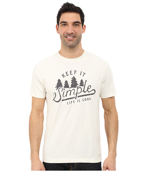 Life is good - Crusher Tee (Simply Ivory/Simple Trees) Men's T Shirt