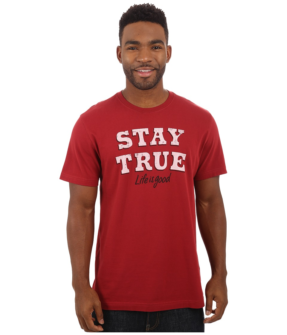 Life is good - Crusher Tee (Rich Red/Stay True LIG) Men