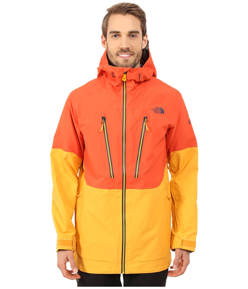 The North Face - Free Thinker Jacket (Zion Orange/Traverse Yellow/Asphalt Grey) Men's Coat