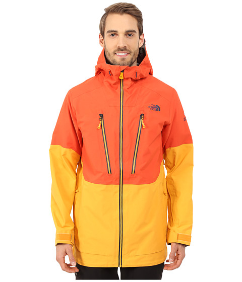 The North Face - Free Thinker Jacket (Zion Orange/Traverse Yellow/Asphalt Grey) Men