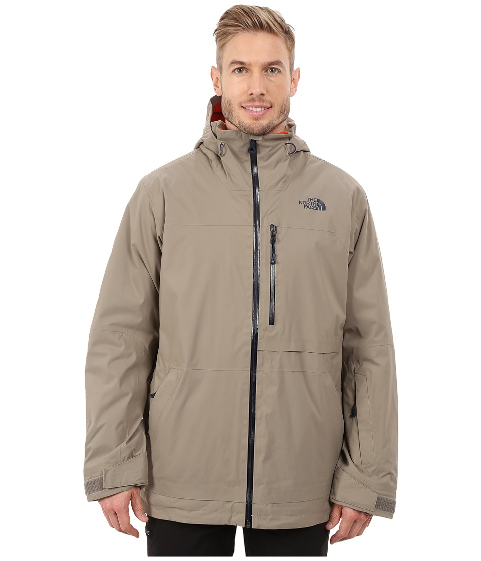The North Face - Sickline HyVent Alpha Jacket (Brindle Brown/Zion Orange) Men