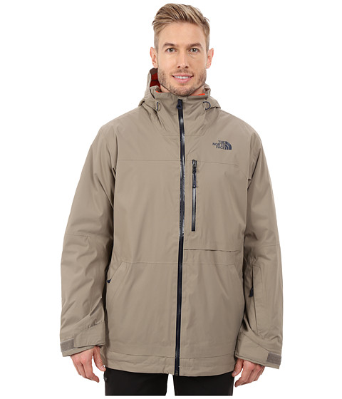 The North Face - Sickline HyVent Alpha Jacket (Brindle Brown/Zion Orange) Men's Coat